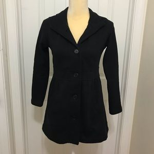 Style & co Knit cotton hood peacoat Petite small
